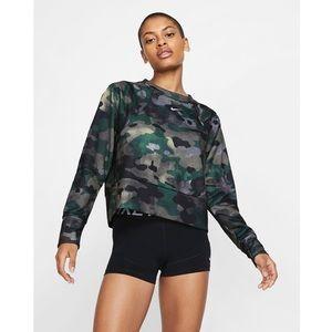 Nike Dri-Fit Fleece Camo Training Top, L